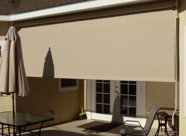 how to make drop down awning