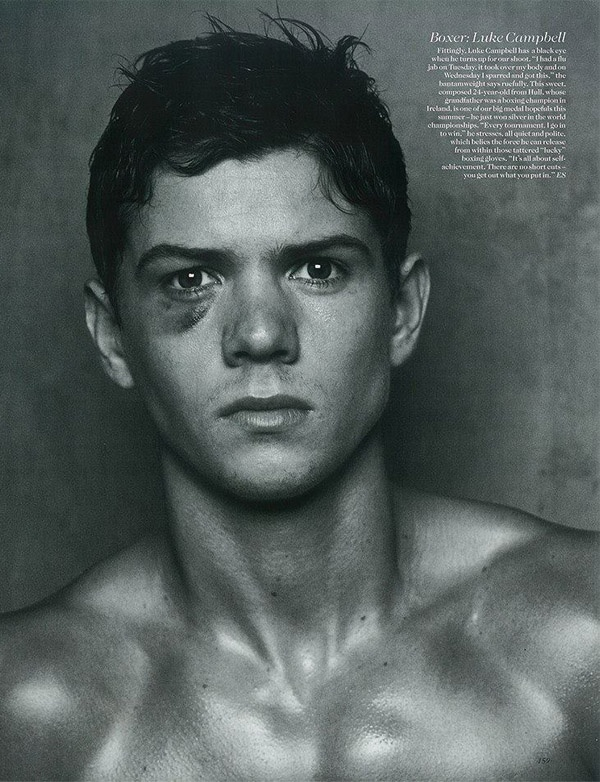 A double congratulations to 24-year-old Team GB boxer Luke Campbell. Not only did he scoop a gold medal at last month's Olympics, but following his June shoot for Vogue he has now been snapped up by Select Models! Amazing!!