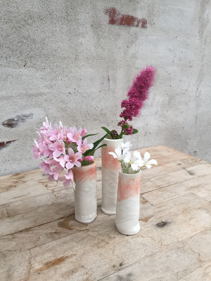 Small ceramic vases
