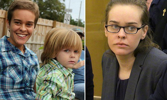 Lacey Spears, of Scottsville, Kentucky, was found guilty of second-degree murder in the January 2014 death of 5-year-old Garnett-Paul Spears (pictured above with Lacey). The mother, who had blogged for years about Garnett-Paul's constant health struggles, was convicted of poisoning him to death by force-feeding heavy concentrations of sodium through his stomach tube. She faces life in prison.