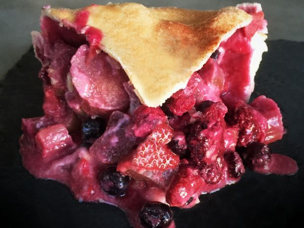South Dakota: Bumbleberry Pie : If you're going to eat pie from one place in South Dakota, let it be the Purple Pie Place. It's a purple fixture where the bumbleberry pie is the perfect snack before or after visiting Mount Rushmore and Crazy Horse Memorial, just minutes away. To clarify: Bumbleberry is not a real berry. It's a blend of a whole mess of berries folded into a flaky pie crust.