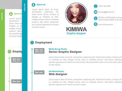 57 best Resume images on Pinterest Resume templates, Page layout - personal website resume