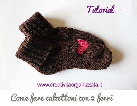 Come fare calzettoni con 2 ferri Tutorial in italiano