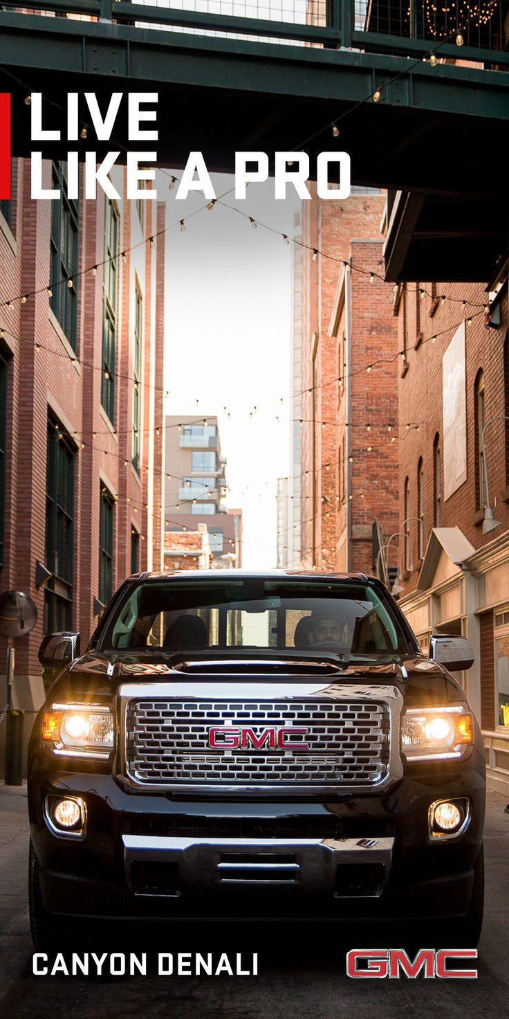 Inside the gmc canyon denali pickup truck you ll experience premium amenities and advanced technologies that you would expect to find in a larger truck