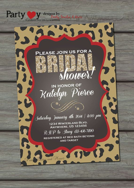 Leopard Bridal Shower Invitations