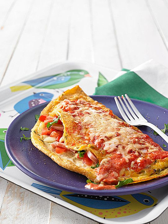 Albertos Omelett mit Tomate und Mozzarella