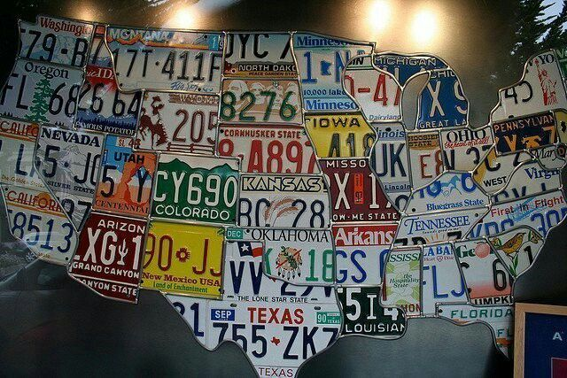 Us Map Made Of License Plates - Us map made out of license plates
