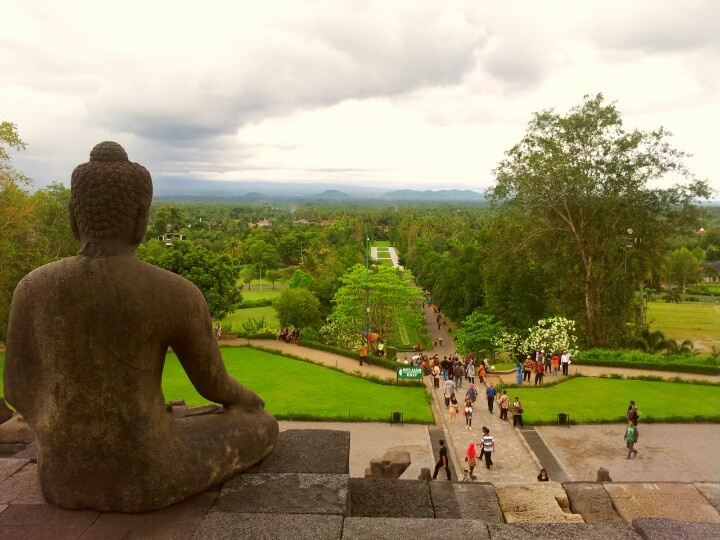 View from the Budha's Eyes, Borobudur Temple. #Jogjakarta #CentralJava #Indonesia