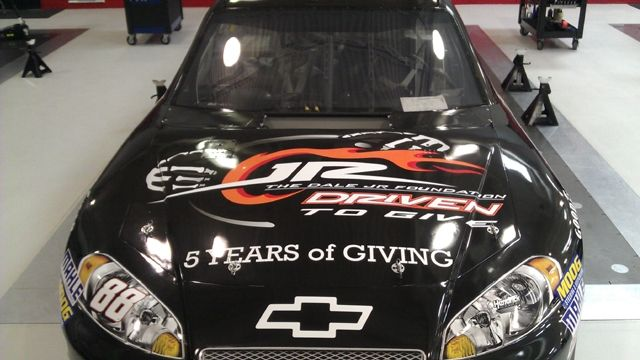 ARTICLE (May 11, 2012): Dale Earnhardt Jr.'s No. 88 Chevrolet to feature The Dale Jr. Foundation for Sprint All-Star weekend. Read more: http://www.hendrickmotorsports.com/news/article/2012/05/11/Dale-Earnhardt-Jrs-No-88-Chevrolet-to-feature-The-Dale-Jr-Foundation-for-Sprint-All-Star-weekend.: All Star