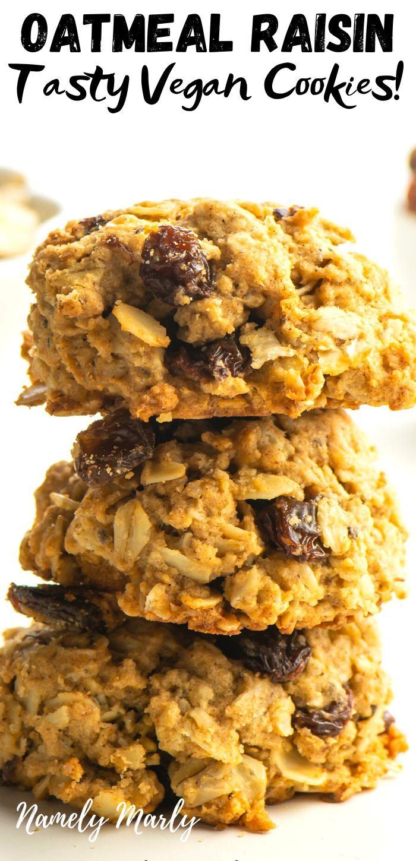 Best Healthy Vegan Oatmeal Raisin Cookies Recipe Vegan Oatmeal Raisin Cookies Vegan Cookies Recipes Oat And Raisin Cookies