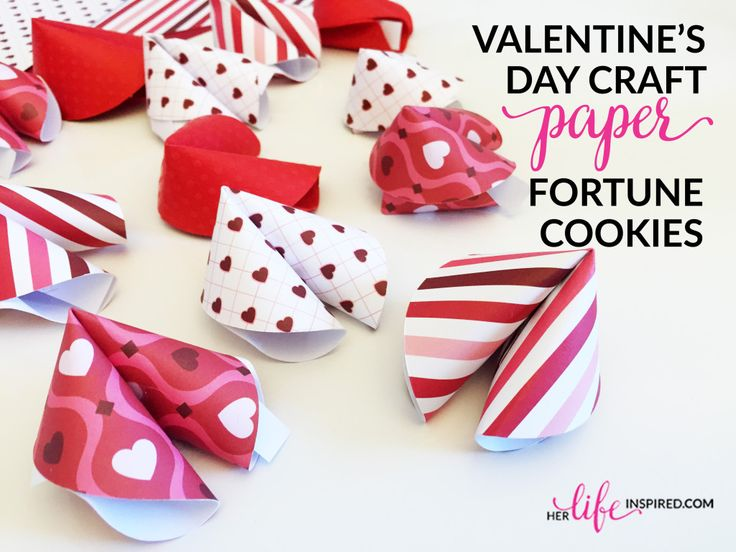 Valentine's Day Craft – Paper Fortune Cookies | Her Life Inspired