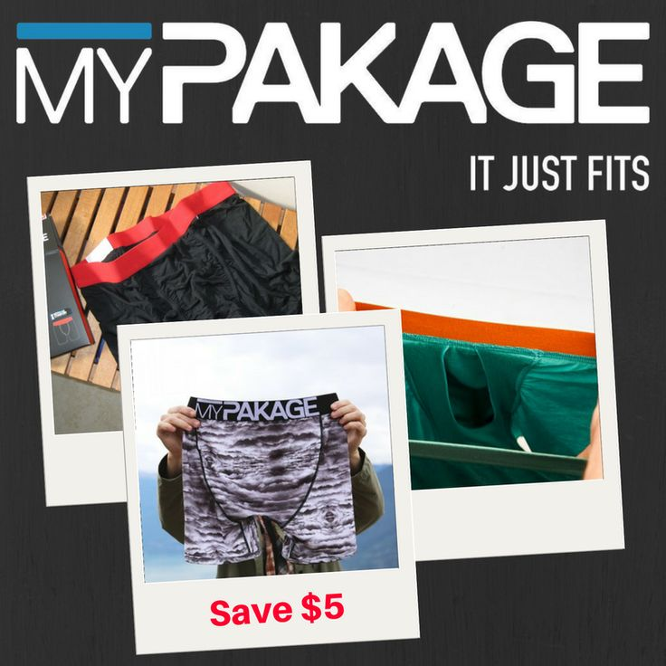 If you haven't had the pleasure of trying My Package boxers yet - here's your chance! $5 off all My Package this week!