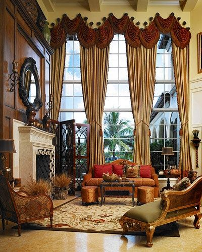 Love the window treatments!  Splendid Sass: LIVING ROOMS ~ PART TWO