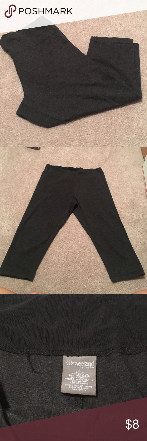 Active wear capris Very lightweight capris with breathable material. Elastic waistband for a snug fit. Only worn once. In great condition. No flaws. Pants Capris