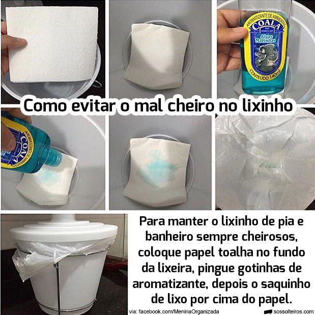 Como evitar o mal cheiro no lixinho da pia