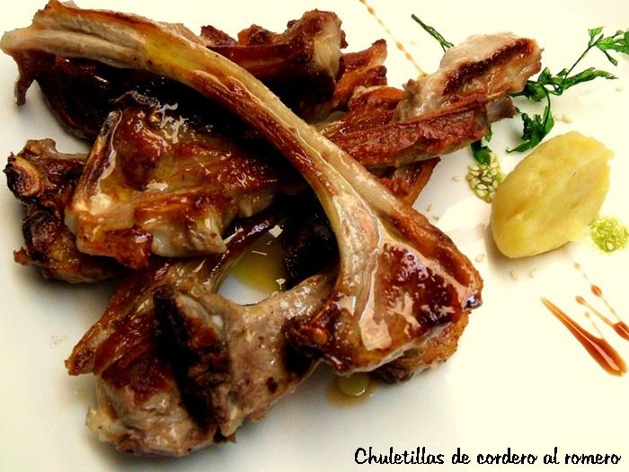 Dieta. Comida Chuletillas de cordero al romero