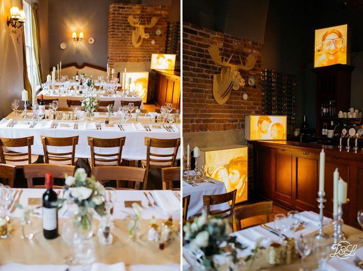 Wedding Venue Set Up With Unique Photobox Designs At The Cross Keys Gaustro Pub In