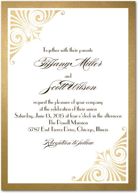 Love And Er Signature White Wedding Invitations Coloring Cricket Umber Brown Front