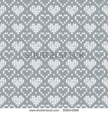 Pixel pattern. Seamless background texture. The pattern can be used to the scheme for embroidery, knitting, sewing and other creative work. - Vector stock