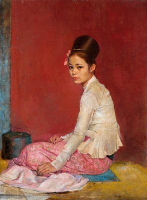 Burmese Silk Art Print by Sir Gerald Kelly