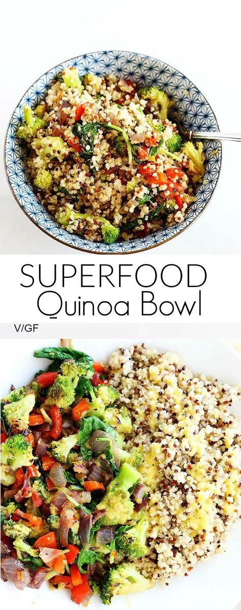 Superfood Quinoa Bowl is quick and easy, perfect dinner or lunch, packed full of healthy superfoods! Vegan + Gluten Free  | healthy recipe ideas @xhealthyrecipex |