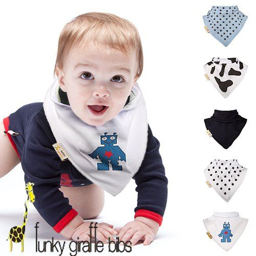 Bandana bibs.. Baby trends.. Should I get him some nerd glasses too? ;)