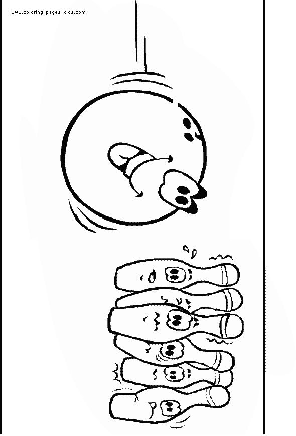 Printable Bowling Coloring Pages For Kids Templates