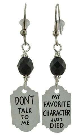 Unique Creations — Don't Talk To Me Earrings