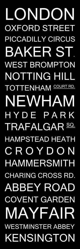 London Bus Subway Sign