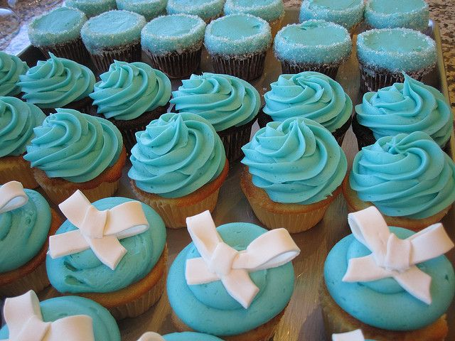 Tiffany Blue Cupcakes for a Bridal Shower