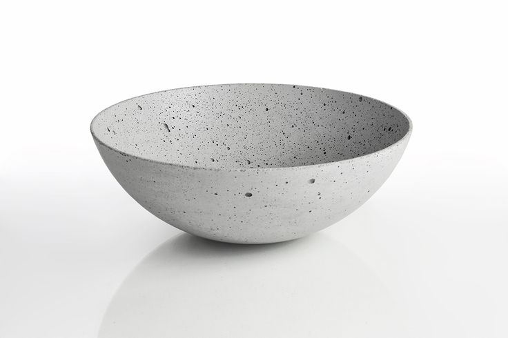 Concrete decorative bowl by Gravelli in grey - 3 sizes.