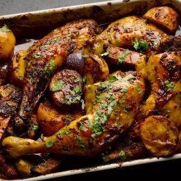 Sweet and smoky Mexican chicken, with cinnamon, chipotle, and chocolate