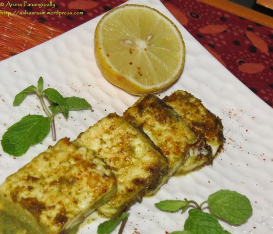 Hariyali Paneer Tikka is super simple to make and super delicious. This tangy, spicy, minty Paneer dish makes an excellent starter; or then if you are like me, it will be an entire meal.