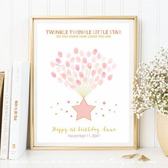Stars Baby Shower Guest Book Alternative Twinkle Twinkle Little Star Baby Shower Printable Instant Download Digital File
