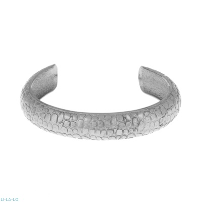 Li - LA - LO bracelet in black plated sterling silver.