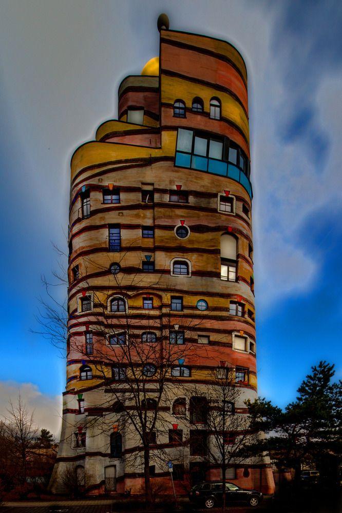 50 best waldspirale darmstadt images on pinterest for Architecture hundertwasser