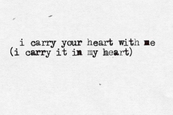 BY E.E. CUMMINGS typewritten, ee cummings, poetry, poem,