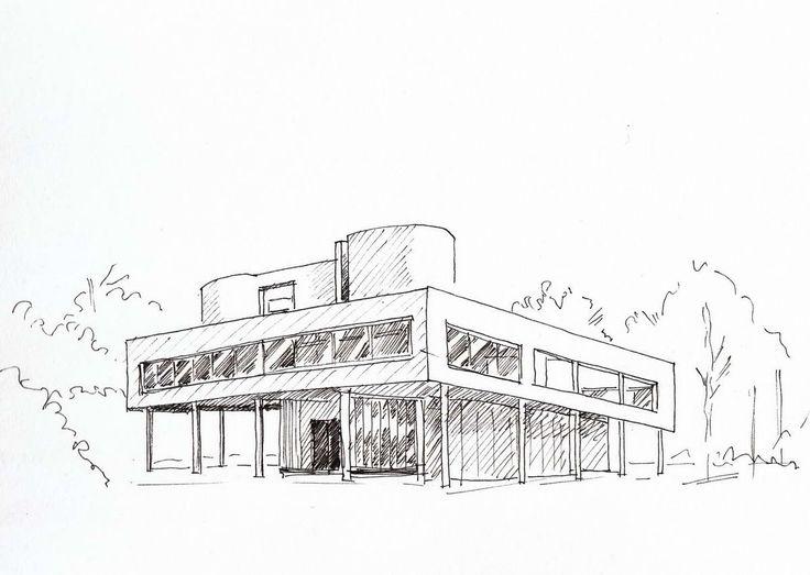 Illustration croquis architecture recherche google for Croquis architecturaux de maisons