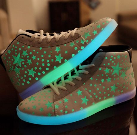 High Top Stars Fluorescent Shoes For Adults