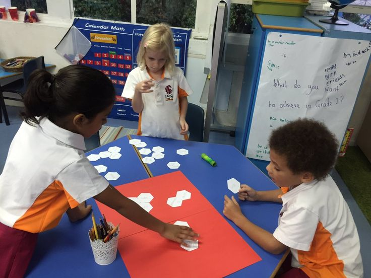 "ISS Grade 2.1 on Twitter: ""Some hexagonal thinking in Math today - also working on our team work and group decision making skills #isspride https://t.co/oZXY22LGE8"""