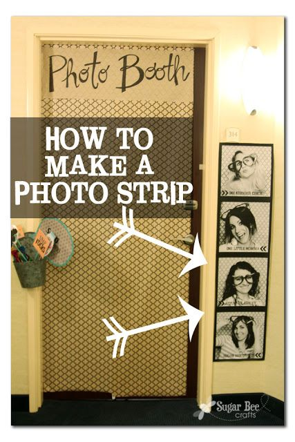 how to make a Giant Photo Strip, for cheap, Tutorial - Sugar Bee Crafts