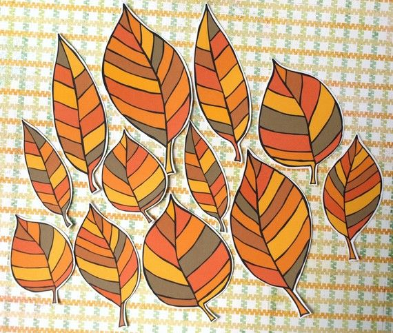 Fall Leaves paper leaf accents by psitsinthedetails on Etsy