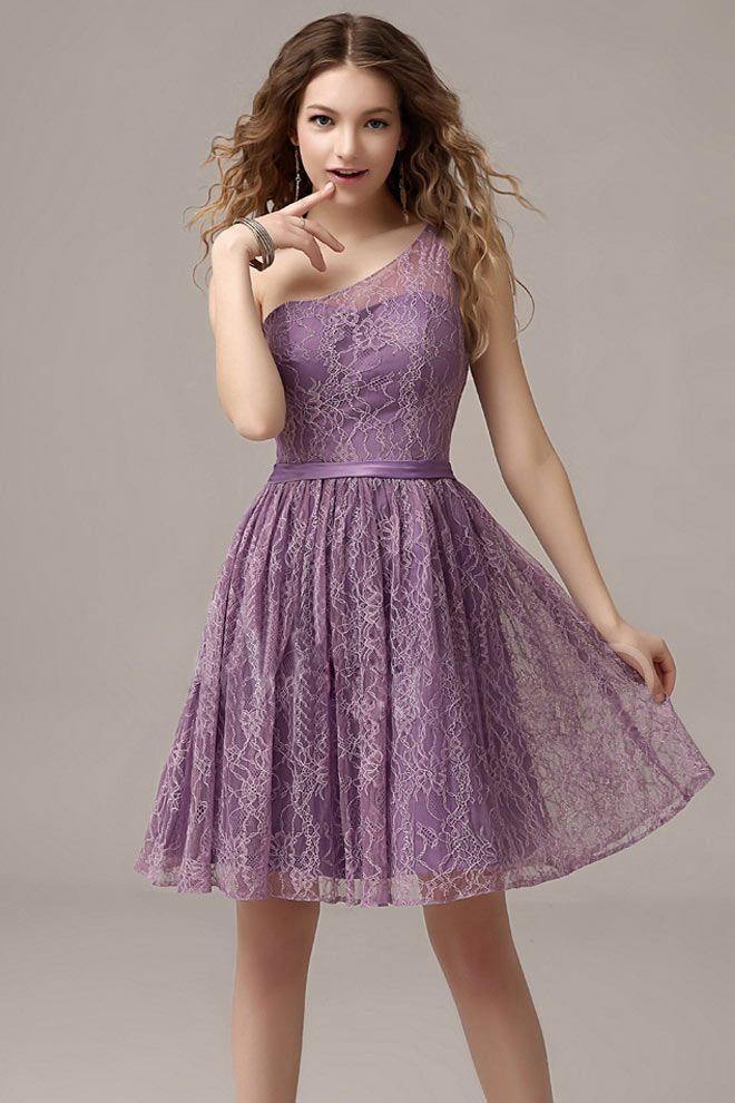 lace purple Bridesmaid Dresses