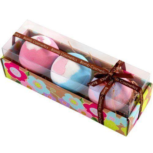 Bomb Cosmetics – Coffret cadeau de luxe – 3 boules de bain: Ballotin de produits de bain en forme de friandises. Contient des huiles…
