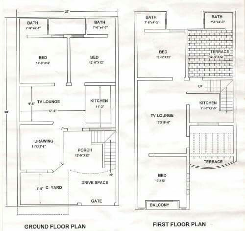2838 best floor plan images on pinterest small houses floor plans and little houses for Pakistan house designs floor plans