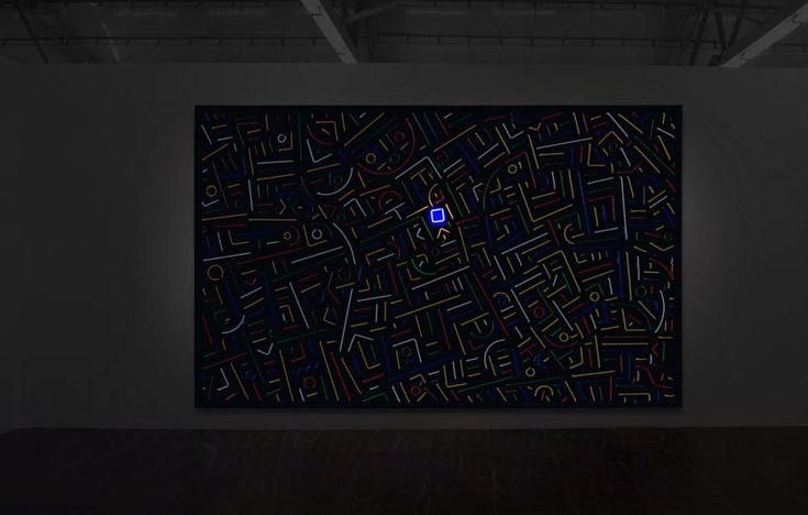 lu xinjian abstractly evokes shanghai's city center in lights