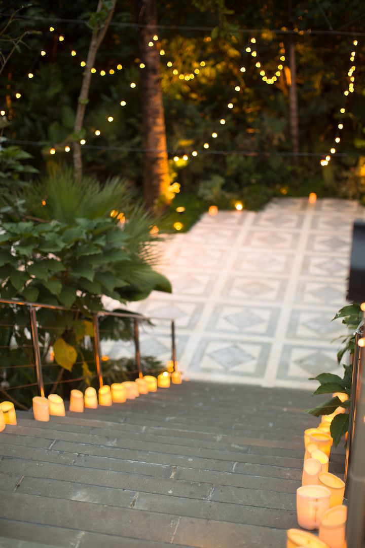 Fairy Tale Wedding Staircase with Candles