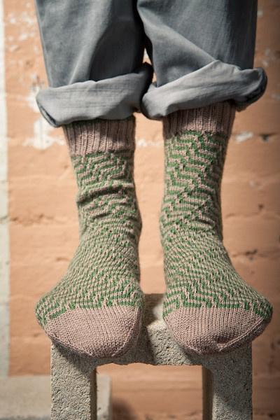 Elusive Bias Socks - Knitting Daily Nice things just for me Pinte ...