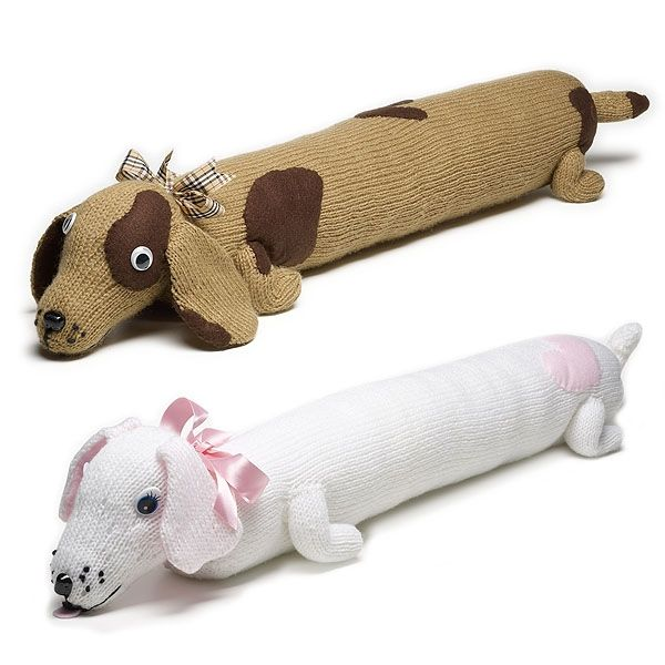 How to Knit a Dog Draught Excluder | plush toys | Knitting, Knitting ...