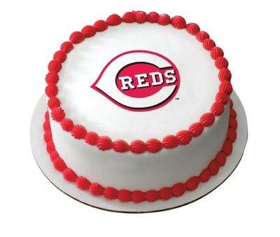 Cincinnati Reds Cake Topper